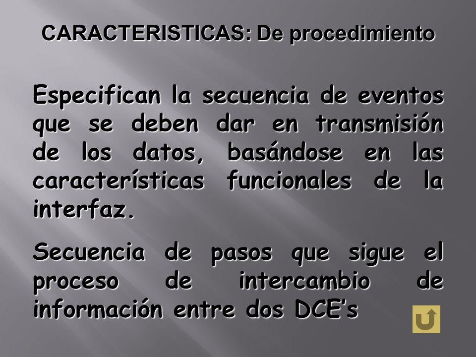 CARACTERISTICAS: De procedimiento