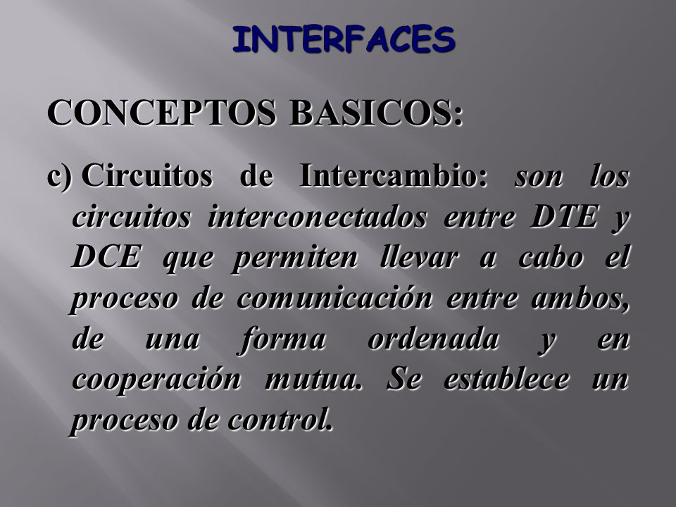 CONCEPTOS BASICOS: INTERFACES