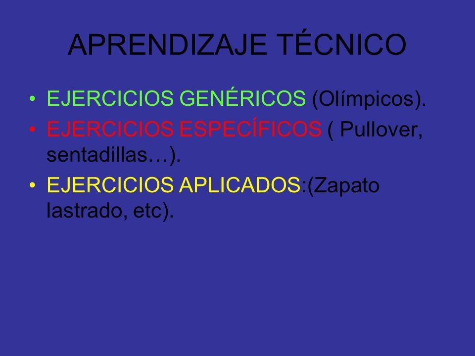 APRENDIZAJE TÉCNICO EJERCICIOS GENÉRICOS (Olímpicos).