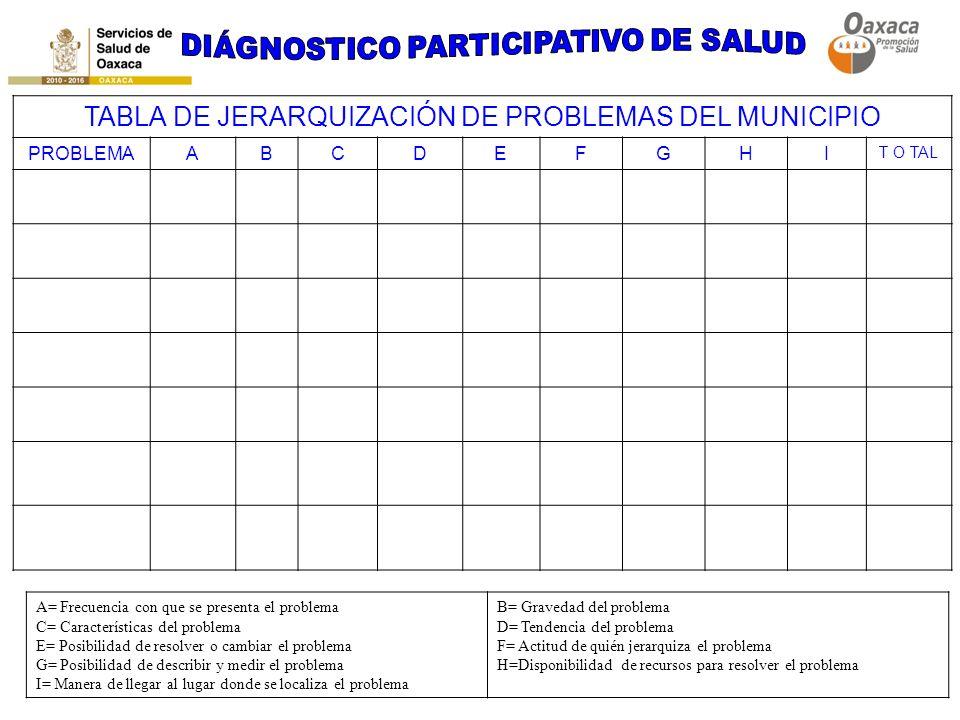 DIÁGNOSTICO PARTICIPATIVO DE SALUD