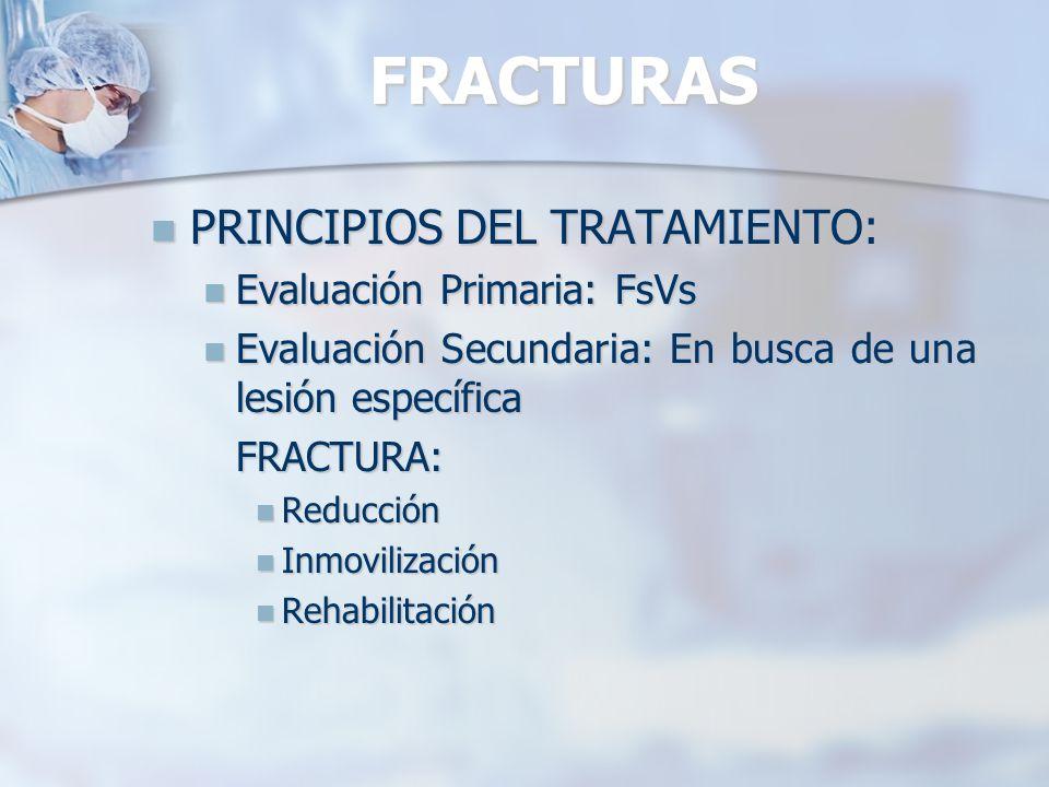 FRACTURAS PRINCIPIOS DEL TRATAMIENTO: Evaluación Primaria: FsVs