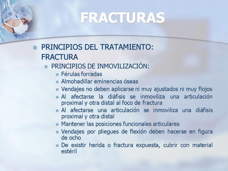 FRACTURAS PRINCIPIOS DEL TRATAMIENTO: FRACTURA