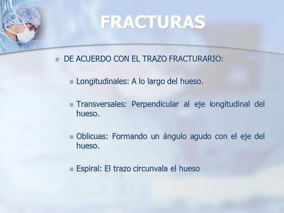 FRACTURAS DE ACUERDO CON EL TRAZO FRACTURARIO: