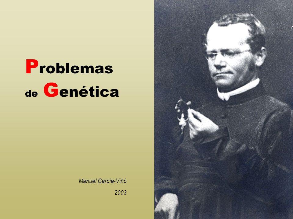 Problemas de Genética Manuel García-Viñó 2003
