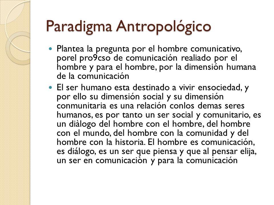 Paradigma Antropológico