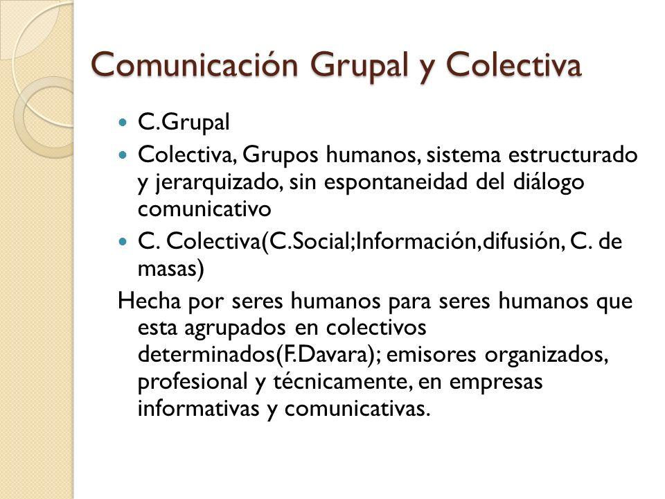 Comunicación Grupal y Colectiva