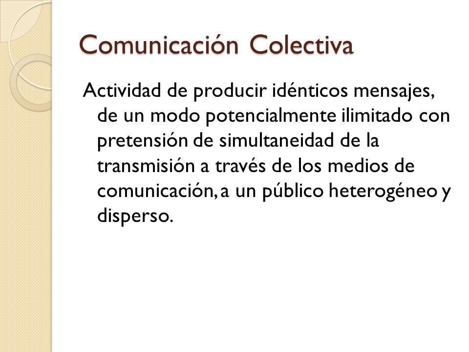 Comunicación Colectiva