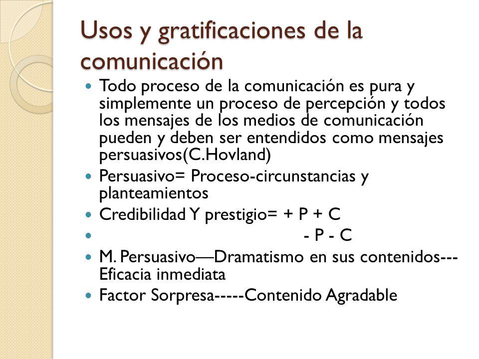 Usos y gratificaciones de la comunicación