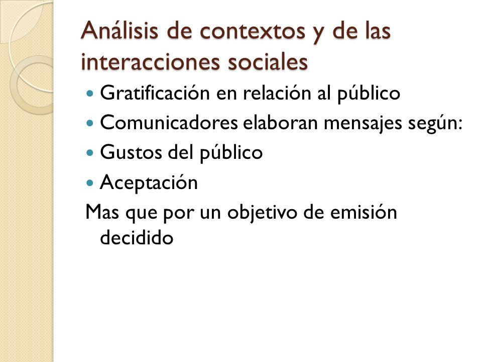 Análisis de contextos y de las interacciones sociales