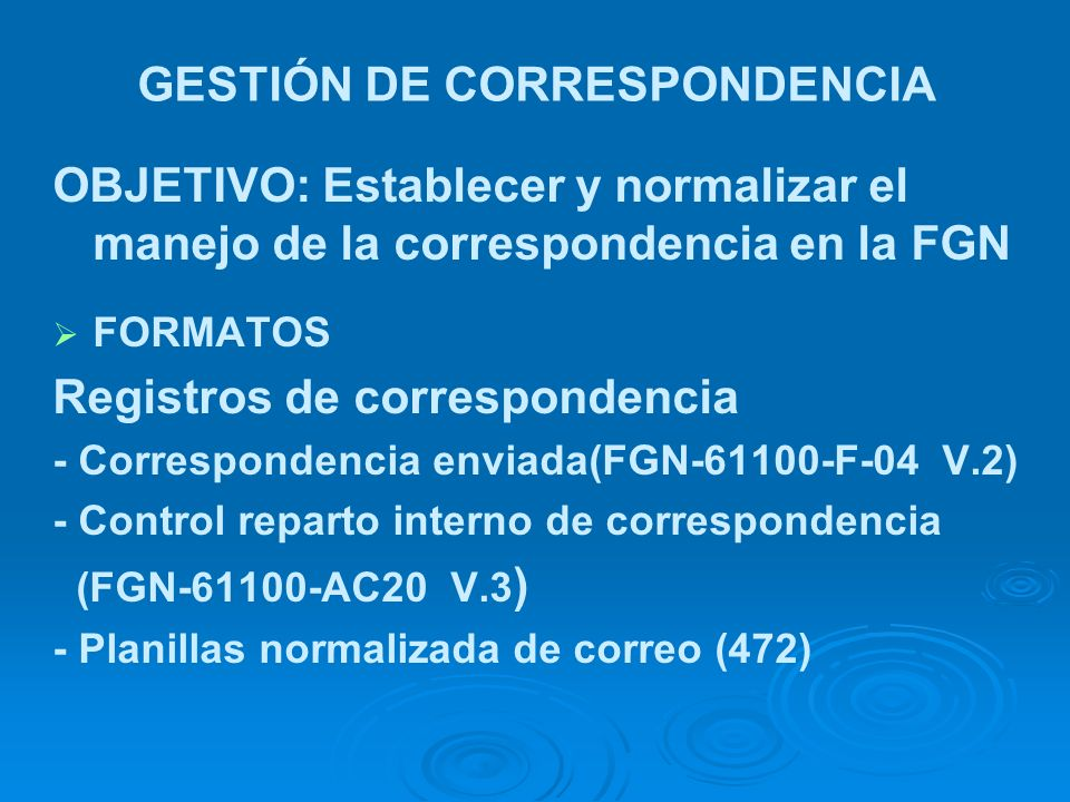 GESTIÓN DE CORRESPONDENCIA
