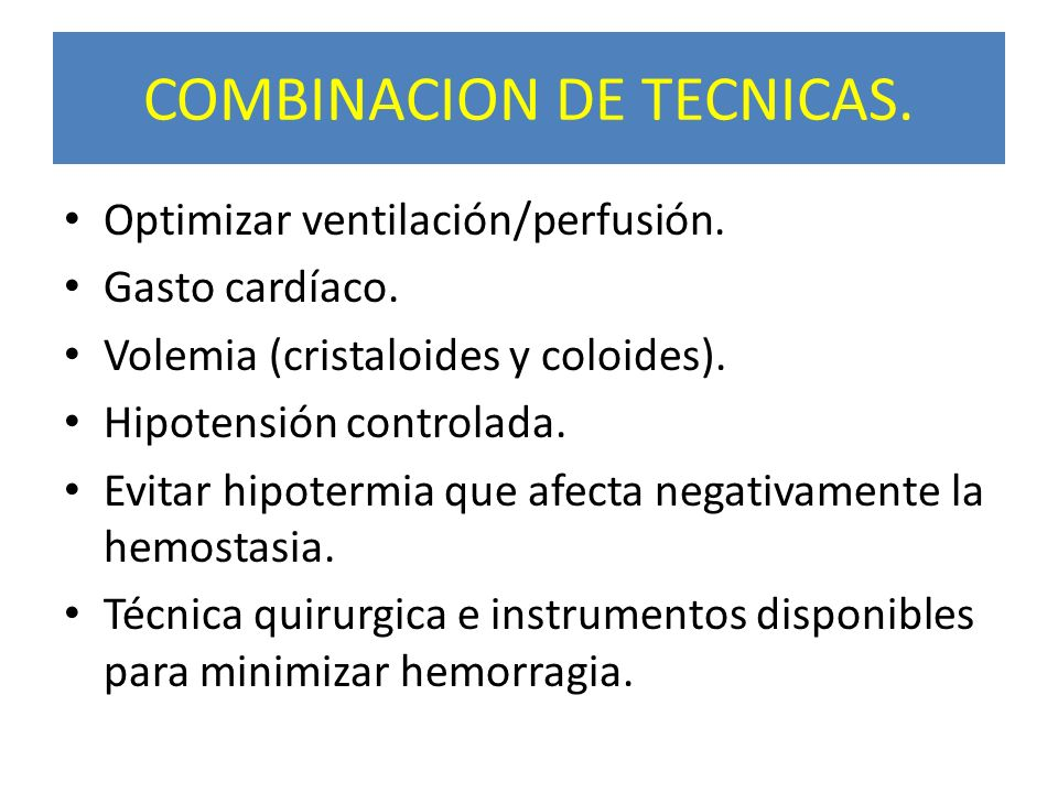 COMBINACION DE TECNICAS.