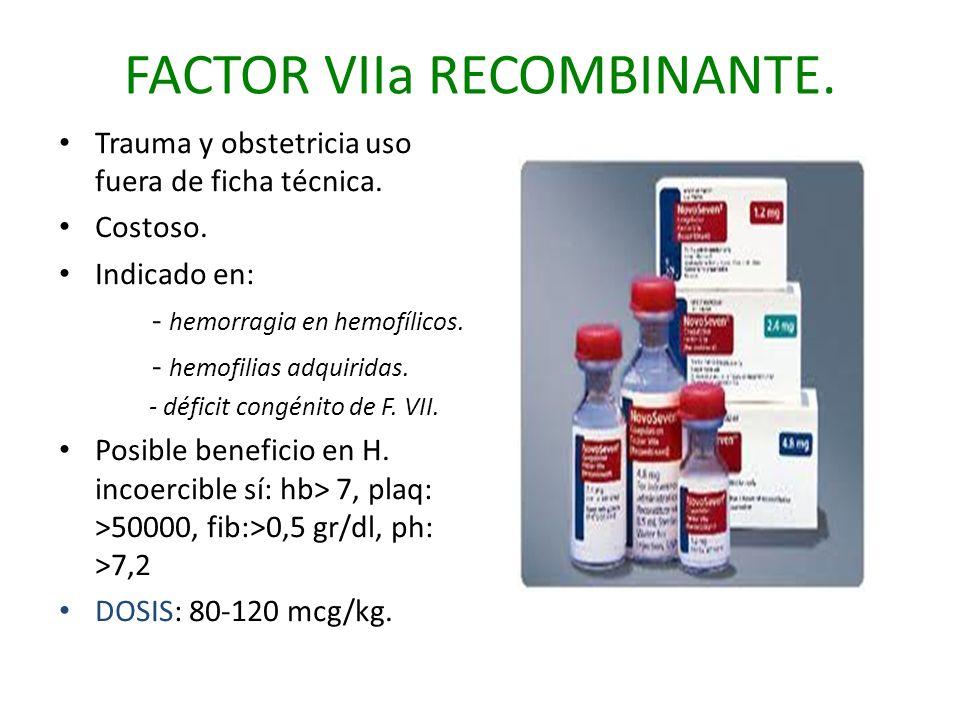 FACTOR VIIa RECOMBINANTE.