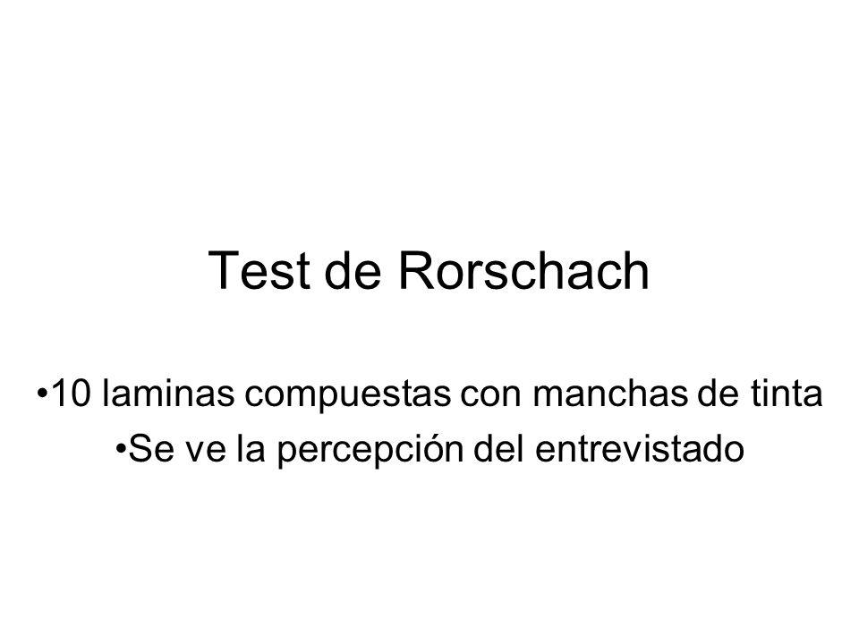 Test de Rorschach 10 laminas compuestas con manchas de tinta