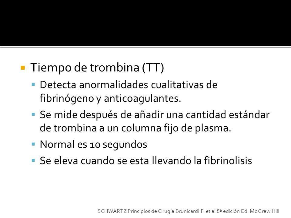 Tiempo de trombina (TT)