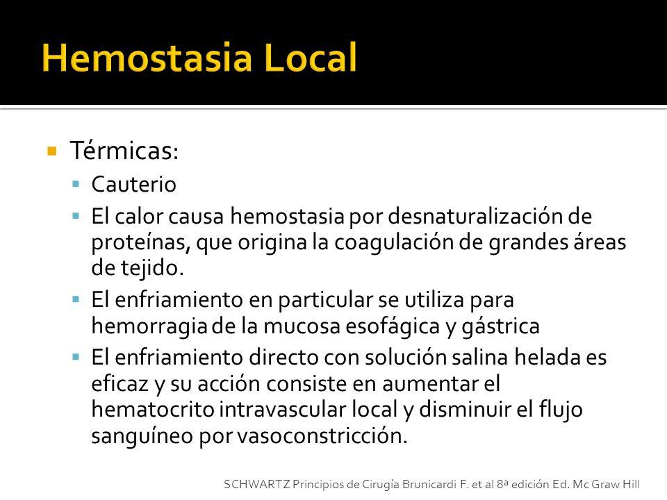 Hemostasia Local Térmicas: Cauterio