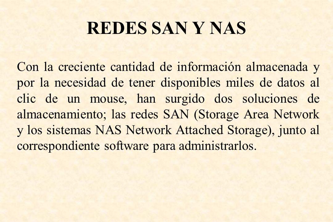 REDES SAN Y NAS
