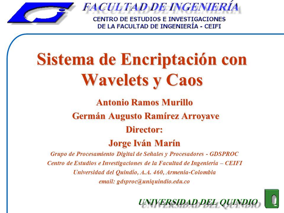 Sistema de Encriptación con Wavelets y Caos