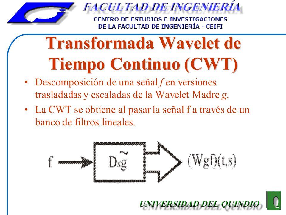 Transformada Wavelet de Tiempo Continuo (CWT)