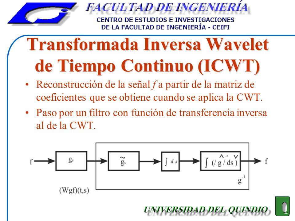 Transformada Inversa Wavelet de Tiempo Continuo (ICWT)