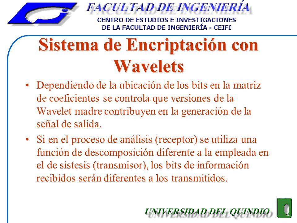 Sistema de Encriptación con Wavelets