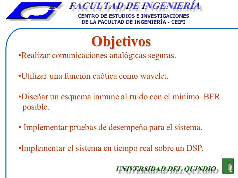 Objetivos Realizar comunicaciones analógicas seguras.