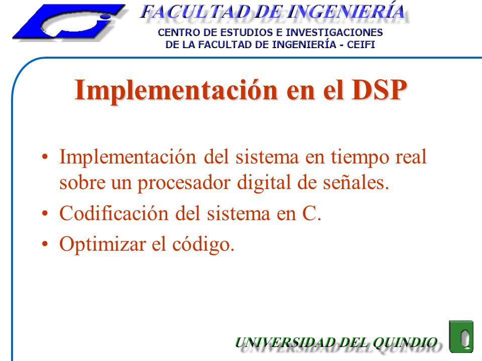 Implementación en el DSP