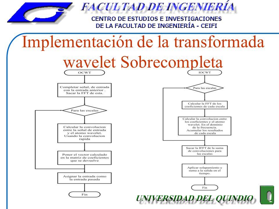 Implementación de la transformada wavelet Sobrecompleta