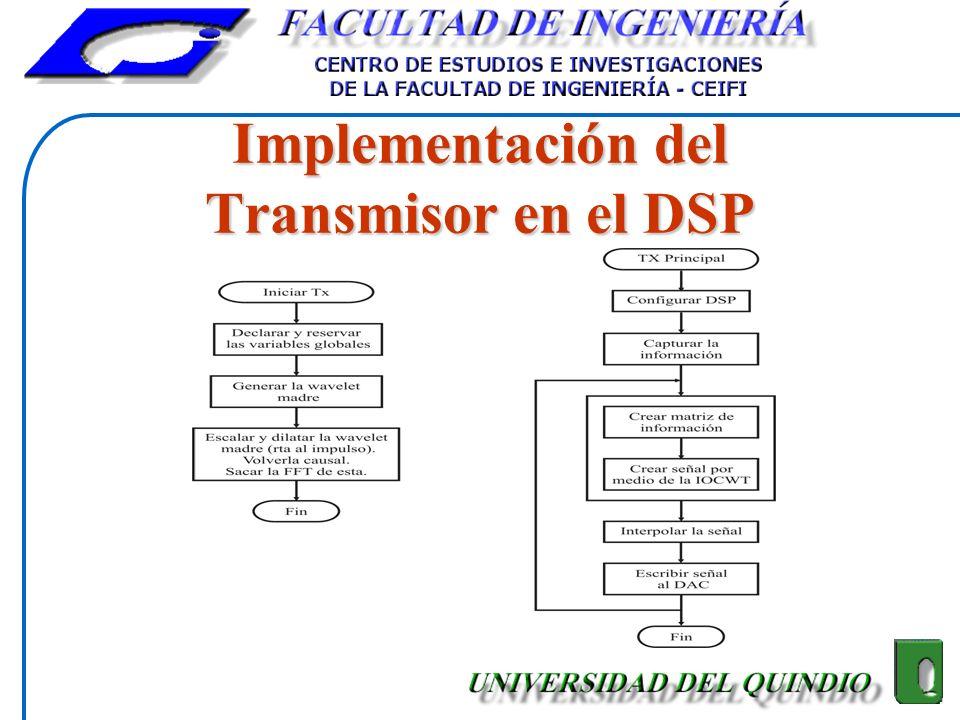 Implementación del Transmisor en el DSP