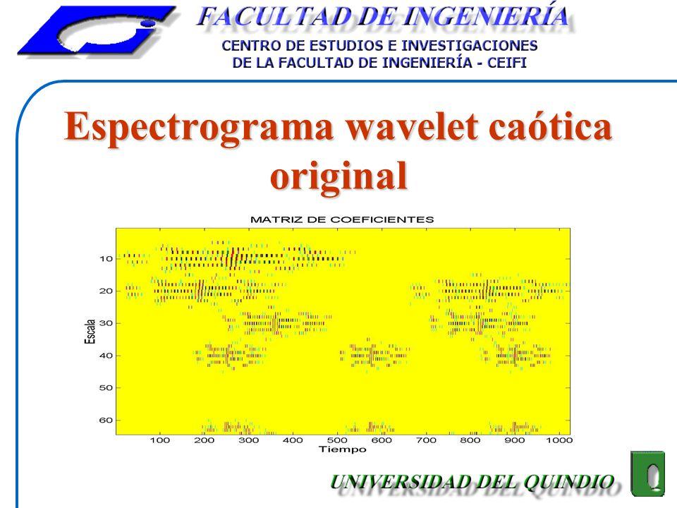 Espectrograma wavelet caótica original