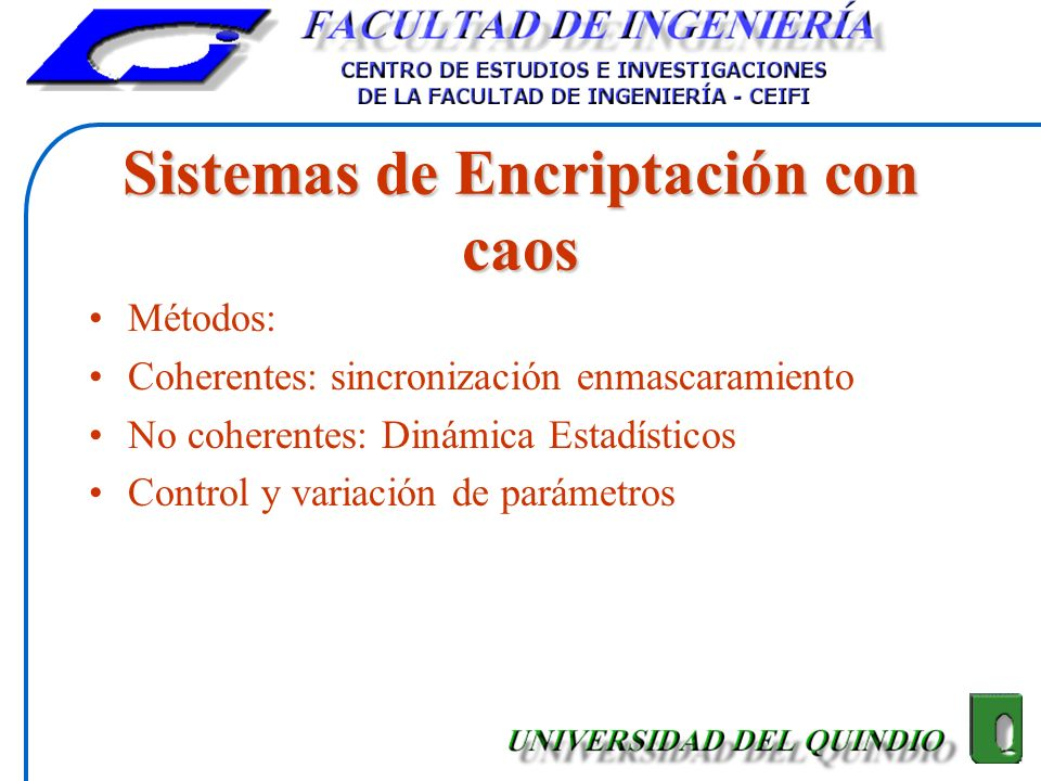 Sistemas de Encriptación con caos