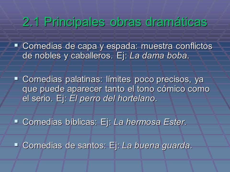 2.1 Principales obras dramáticas