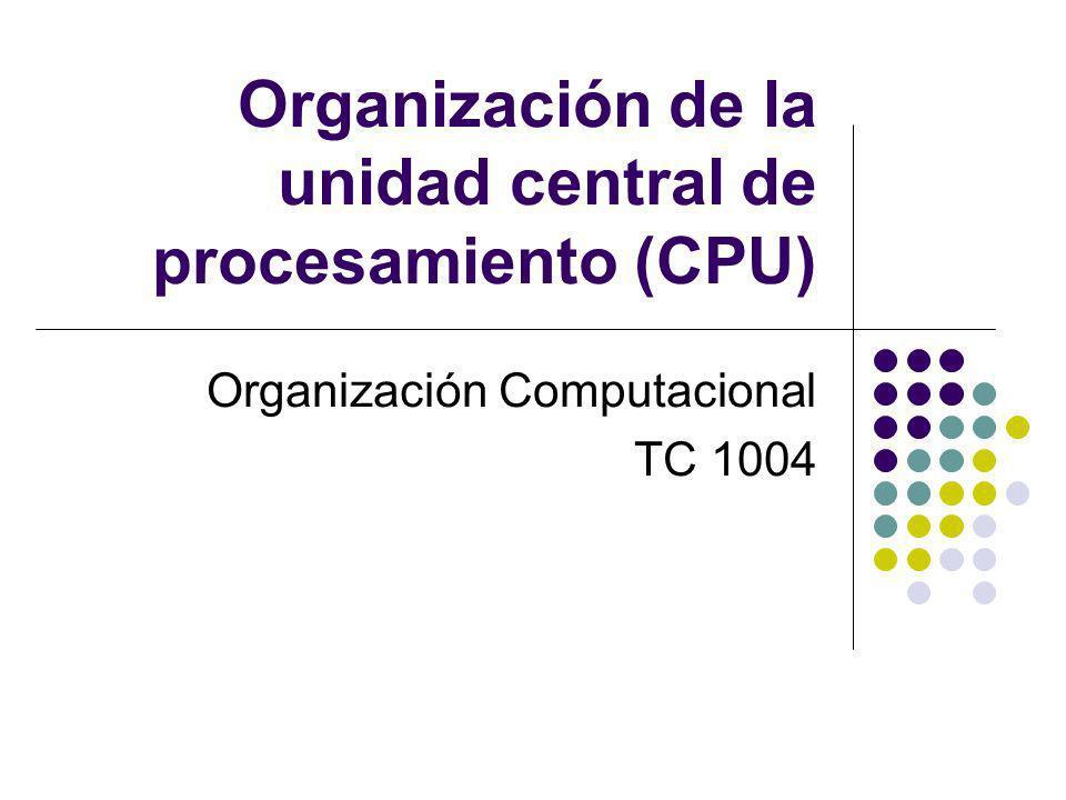 Organización de la unidad central de procesamiento (CPU)