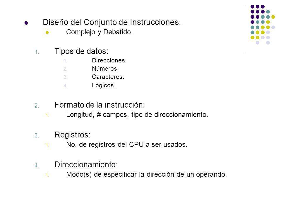 Diseño del Conjunto de Instrucciones.