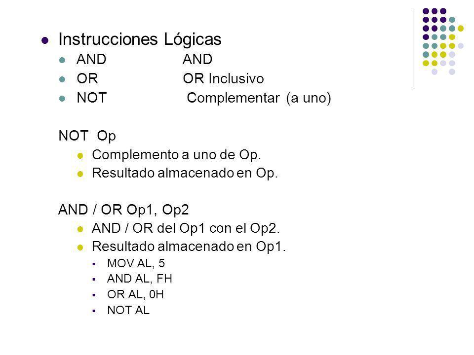 Instrucciones Lógicas