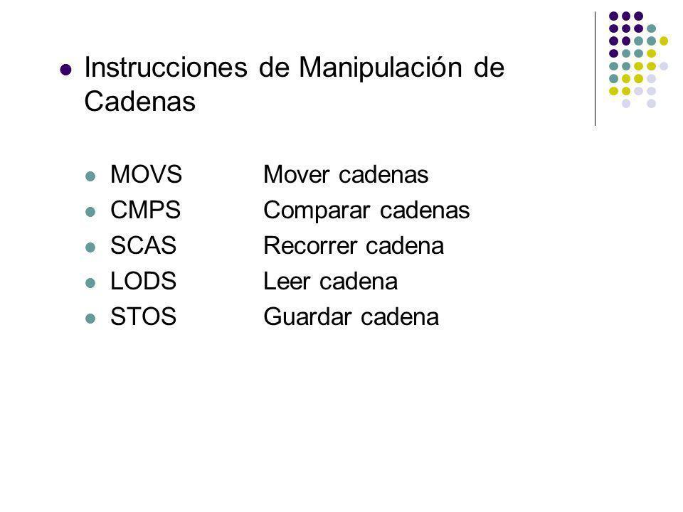 Instrucciones de Manipulación de Cadenas