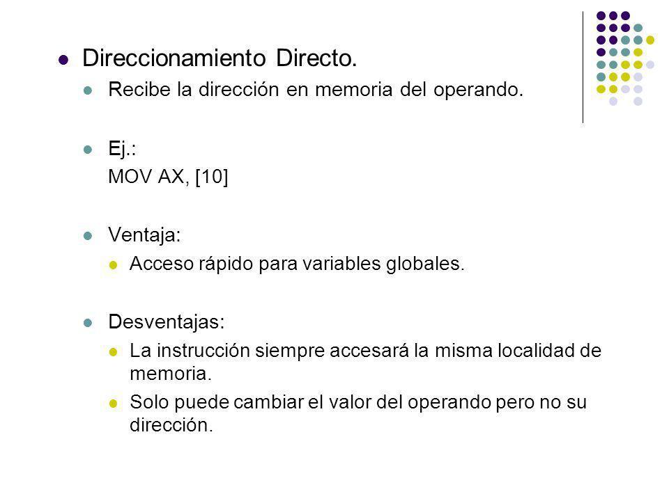 Direccionamiento Directo.