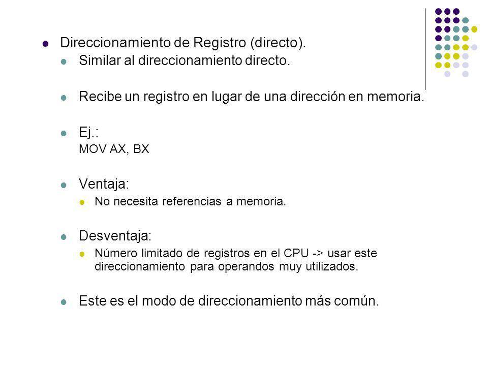 Direccionamiento de Registro (directo).