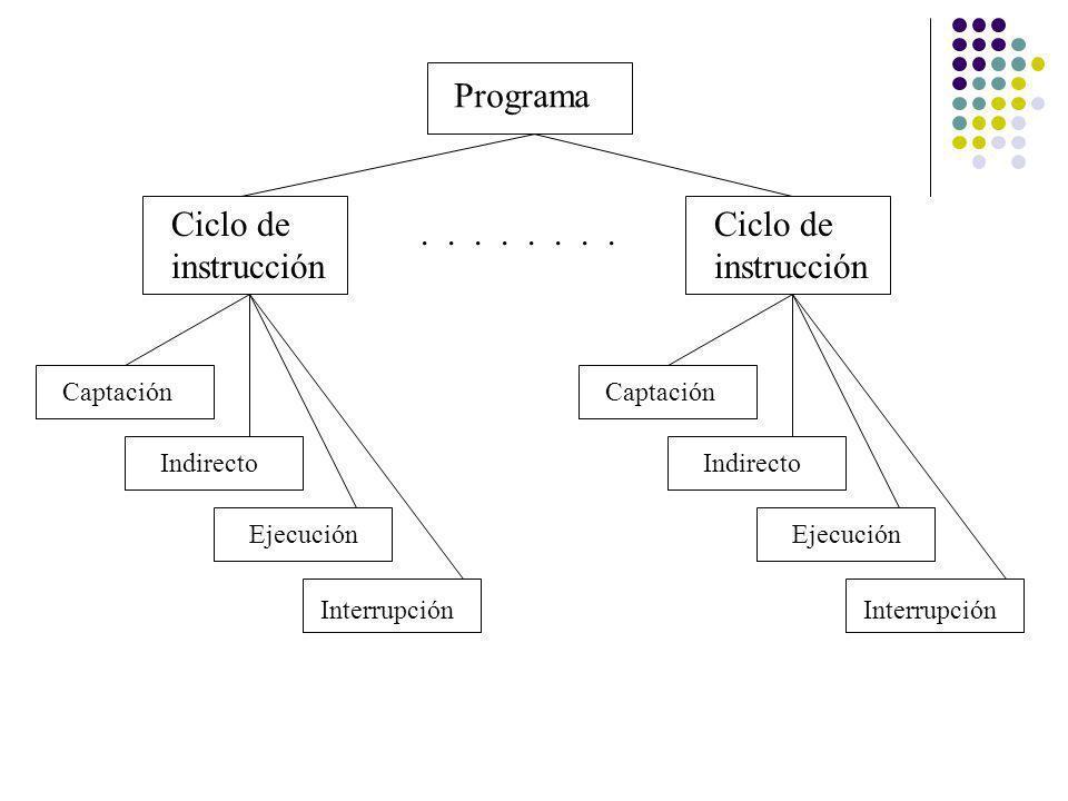 Programa Ciclo de instrucción Ciclo de instrucción . . . . . . . .