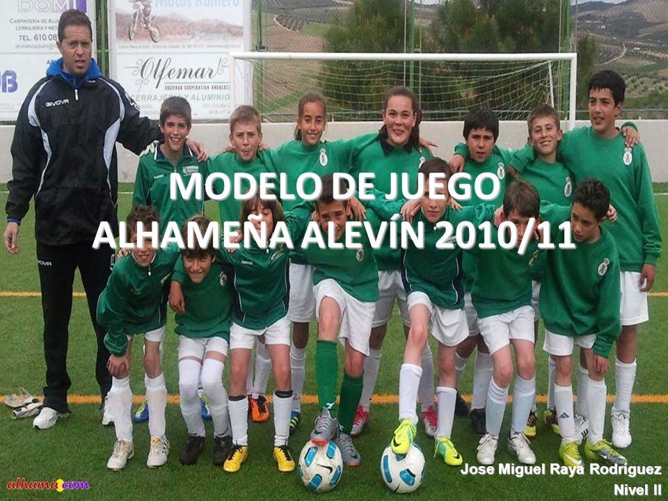 MODELO DE JUEGO ALHAMEÑA ALEVÍN 2010/11
