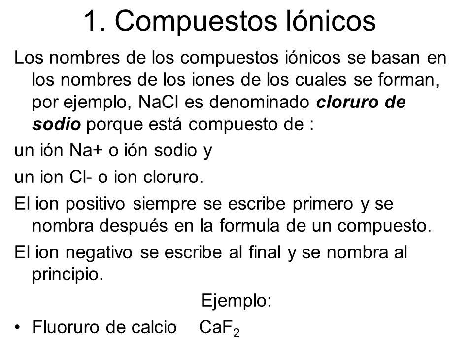 1. Compuestos Iónicos