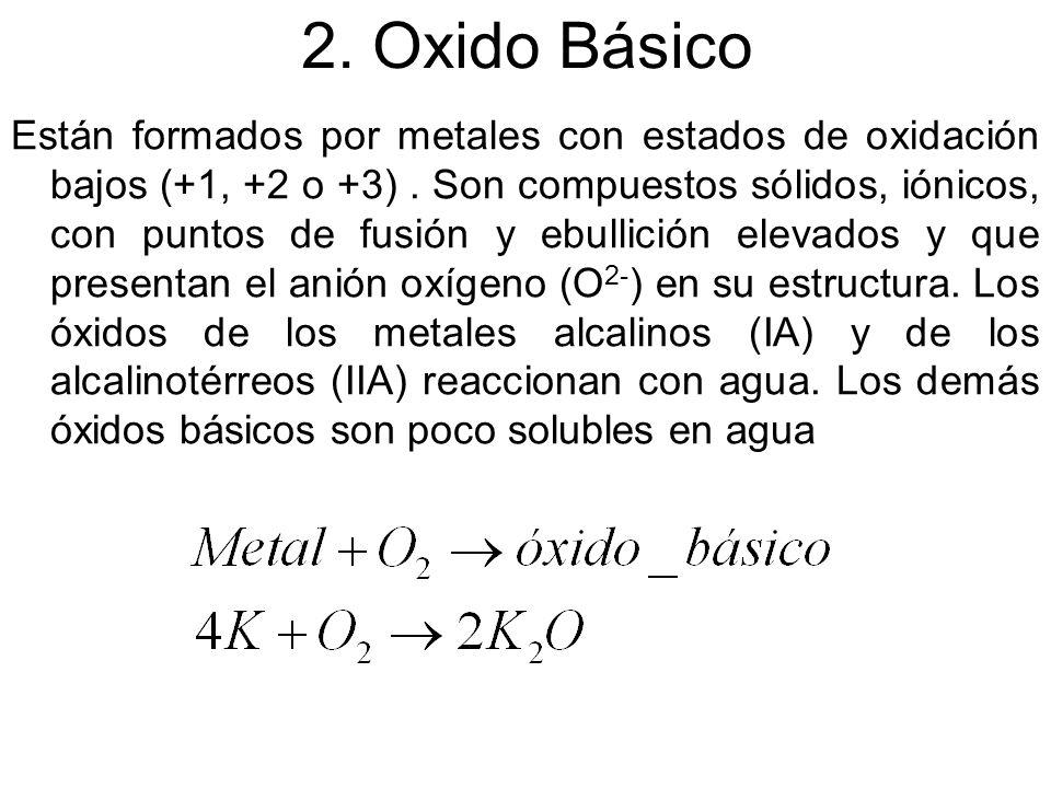 2. Oxido Básico