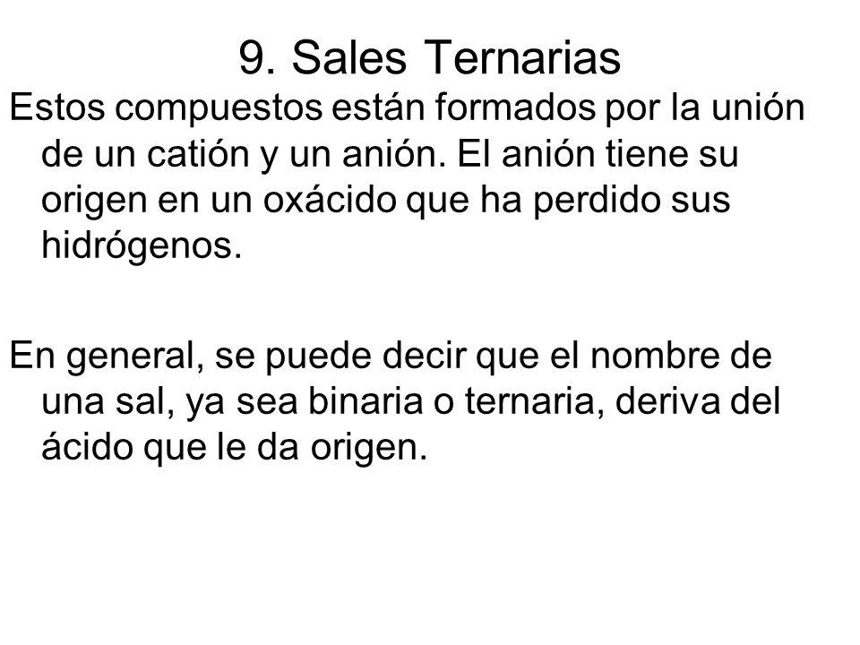 9. Sales Ternarias