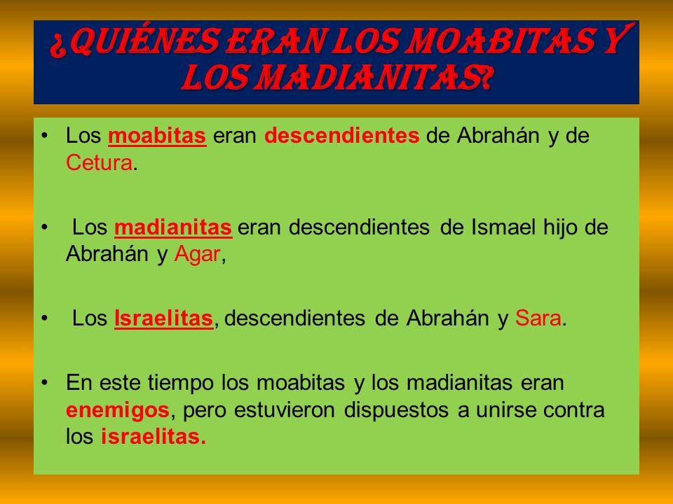 ¿Quiénes eran los Moabitas y los Madianitas