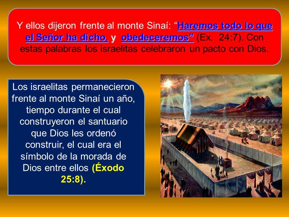 Y ellos dijeron frente al monte Sinaí: Haremos todo lo que el Señor ha dicho, y obedeceremos (Ex. 24:7). Con estas palabras los israelitas celebraron un pacto con Dios.