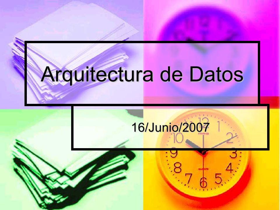 Arquitectura de Datos 16/Junio/2007