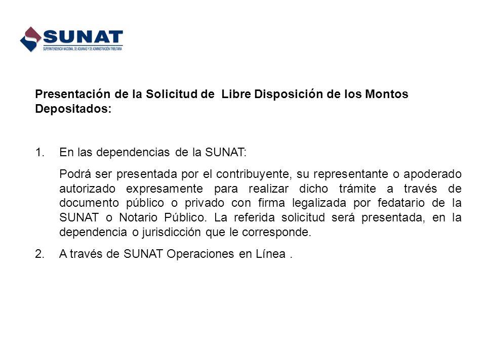 En las dependencias de la SUNAT: