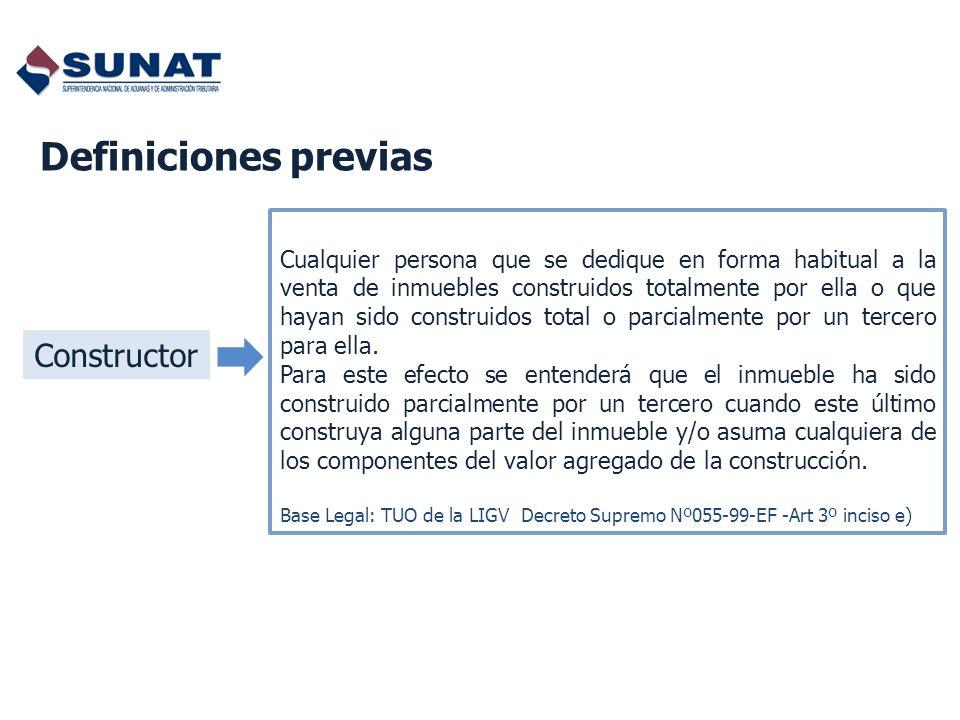 Definiciones previas Constructor