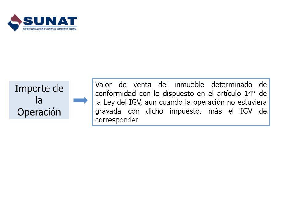Importe de la Operación