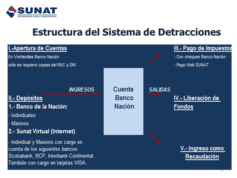 Estructura del Sistema de Detracciones