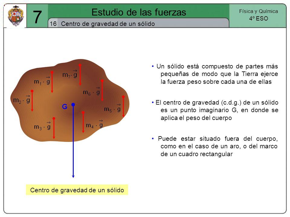 Centro de gravedad de un sólido